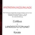 Urkunde Landesstützpunkt Cottbus